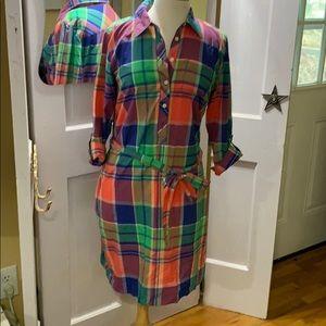 Talbots plaid dress